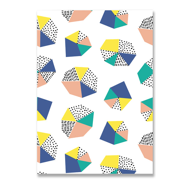 Abstract Shape Print Blank Greeting Card - Mode Prints