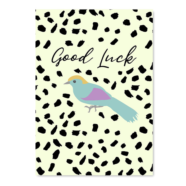 Good Luck Bird Card - Mode Prints