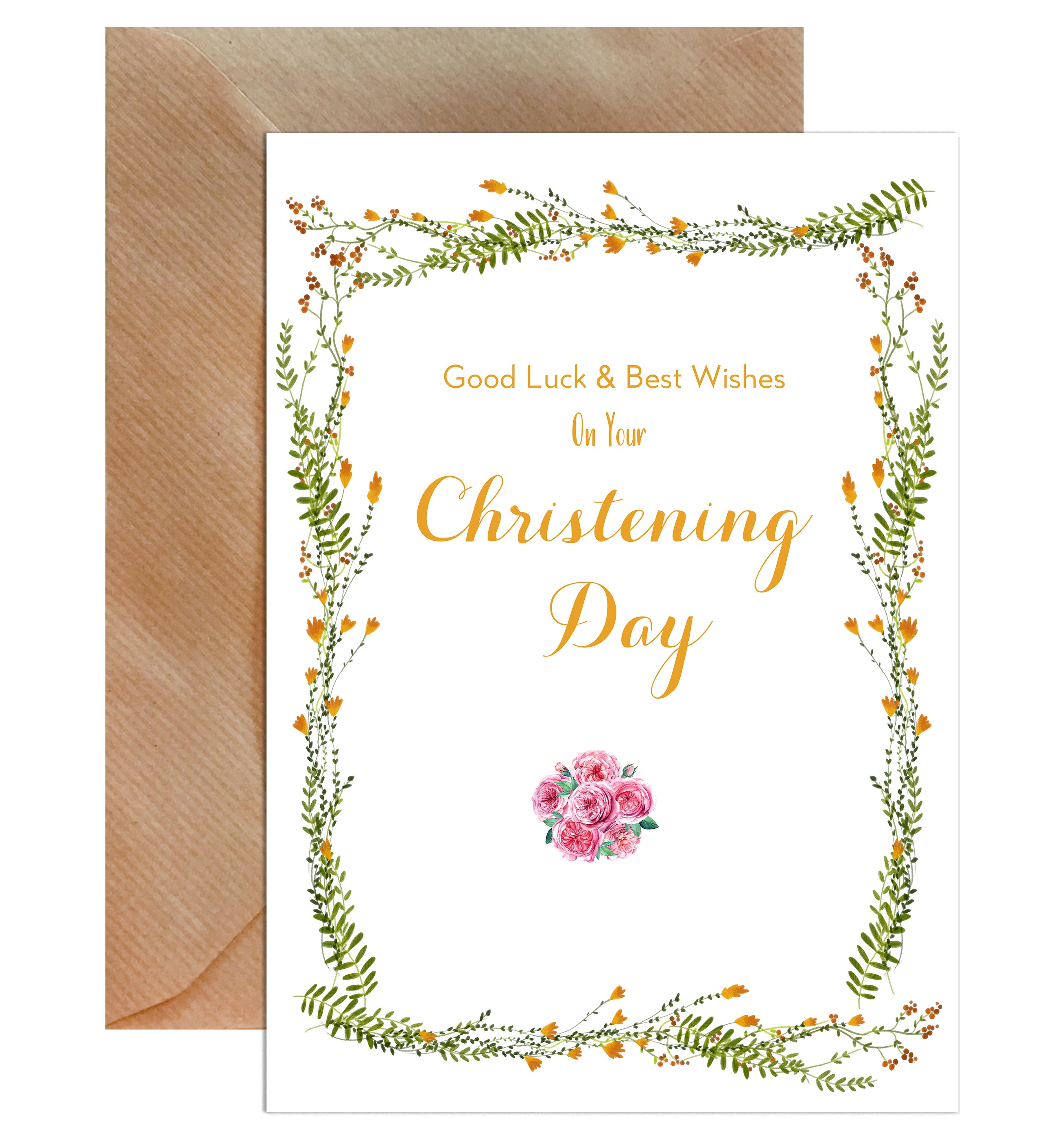 Congratulations On Your Christening Day Greeting Card-Greeting Cards-Mode Prints