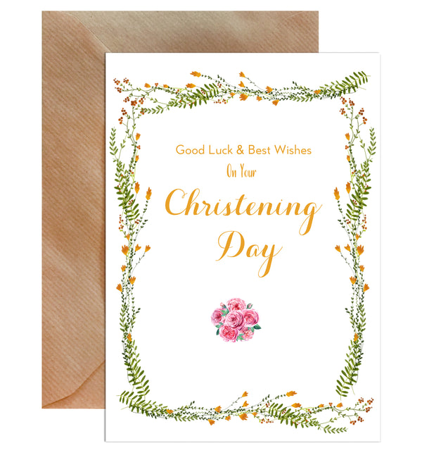 Congratulations On Your Christening Day Greeting Card - Mode Prints