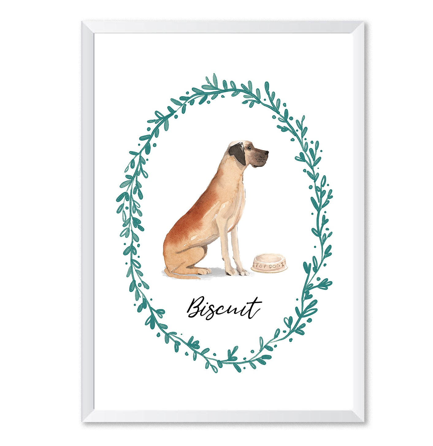 Personalised Great Dane Dog Art Print
