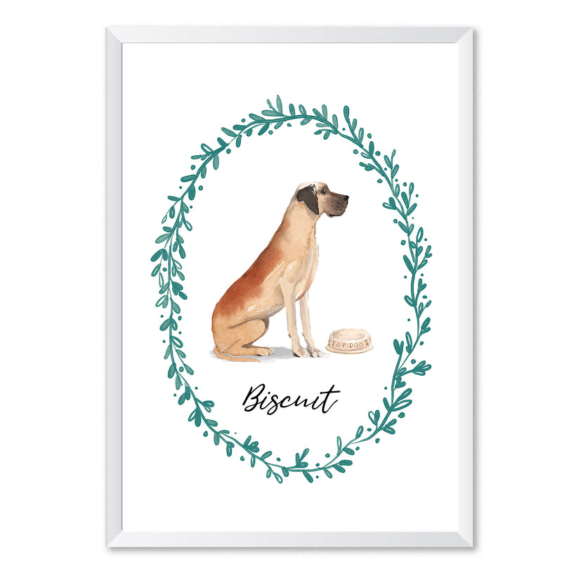 Personalised Great Dane Dog Art Print - Mode Prints