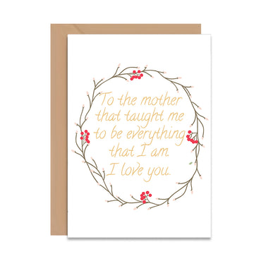 Mothers Day Quote Greeting Card-Greeting Cards-Mode Prints