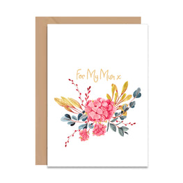 For My Mum Greeting Card-Greeting Cards-Mode Prints
