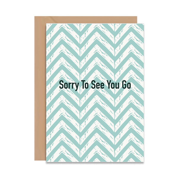 Sorry To See You Go Card - Mode Prints