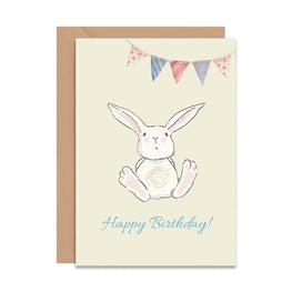 Happy Birthday Bunny Card-Greeting Cards-Mode Prints