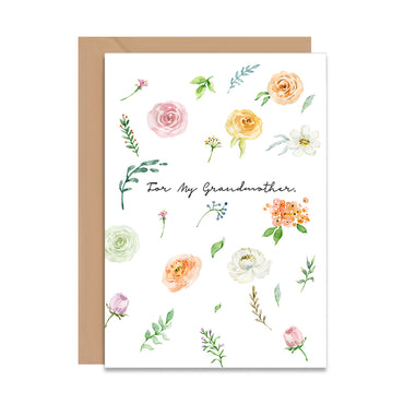 For My Grandmother Greeting Card-Greeting Cards-Mode Prints