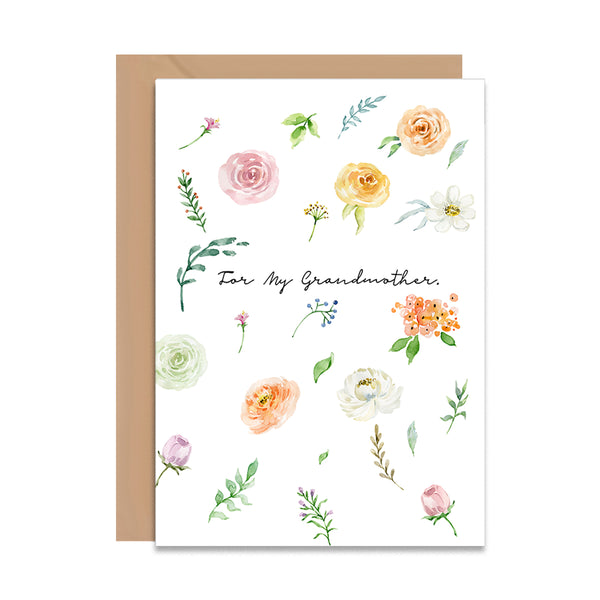 For My Grandmother Greeting Card - Mode Prints