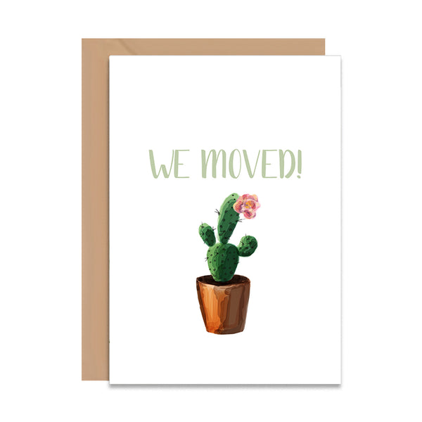 We Moved Cactus Card-Greeting Cards-Mode Prints