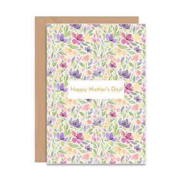 Happy Mothers Day Floral Greeting Card-Greeting Cards-Mode Prints