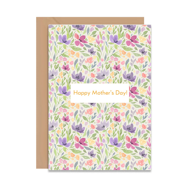 Happy Mothers Day Floral Greeting Card - Mode Prints