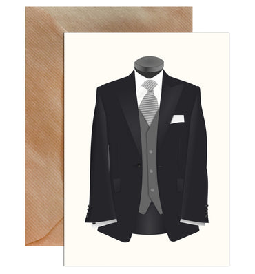 Groom Suit Wedding Greeting Card-Greeting Cards-Mode Prints