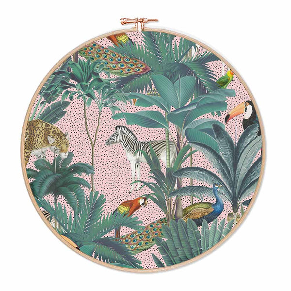 Pink Tropical Jungle Hoop