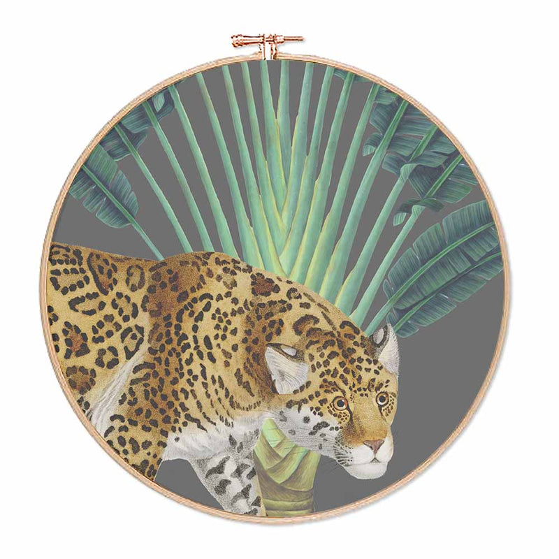 Tropical Jungle Leopard Hoop