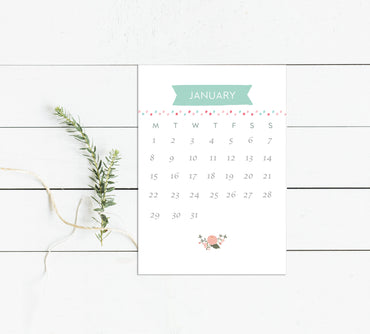 2018 Desk Calendar-Calendar-Mode Prints