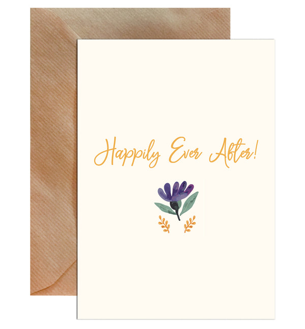 Happily Ever After Wedding Greeting Card - Mode Prints