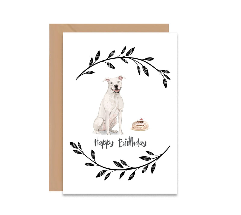 American Staffordshire Terrier Dog Birthday Card - Mode Prints