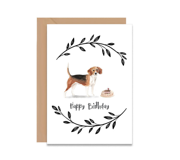 Beagle Dog Birthday Card - Mode Prints