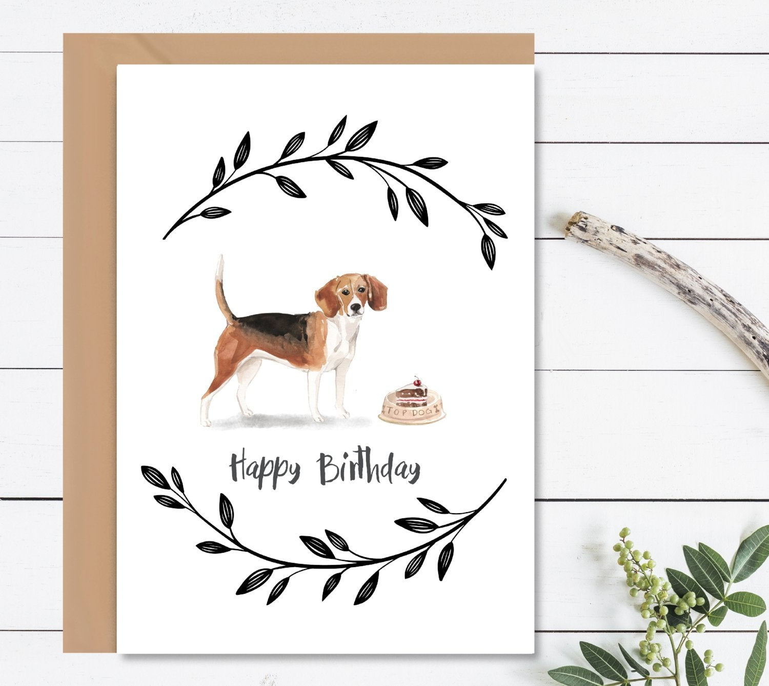 Beagle Dog Birthday Card-Greeting Cards-Mode Prints