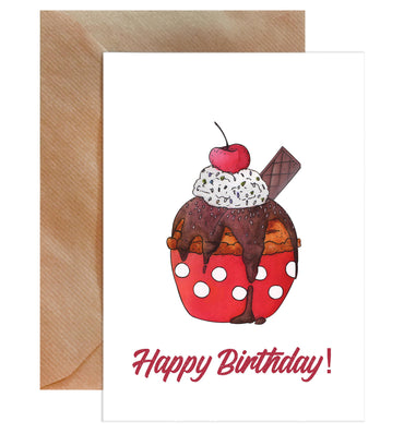 Happy Birthday Cake Card-Greeting Cards-Mode Prints