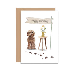 Cockapoo Dog Birthday Card-Greeting Cards-Mode Prints