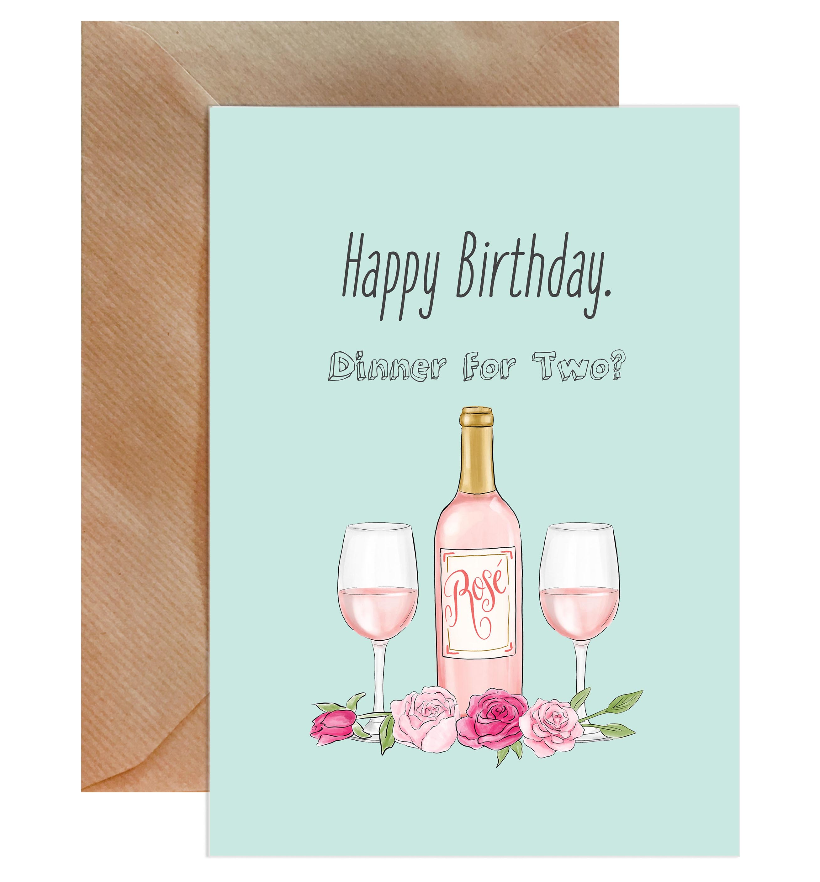Happy Birthday Dinner For Two? Card-Greeting Cards-Mode Prints