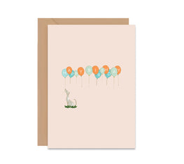 Dog Balloons Happy Birthday Card-Greeting Cards-Mode Prints