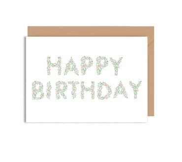 Happy Birthday Flower Type Card-Greeting Cards-Mode Prints