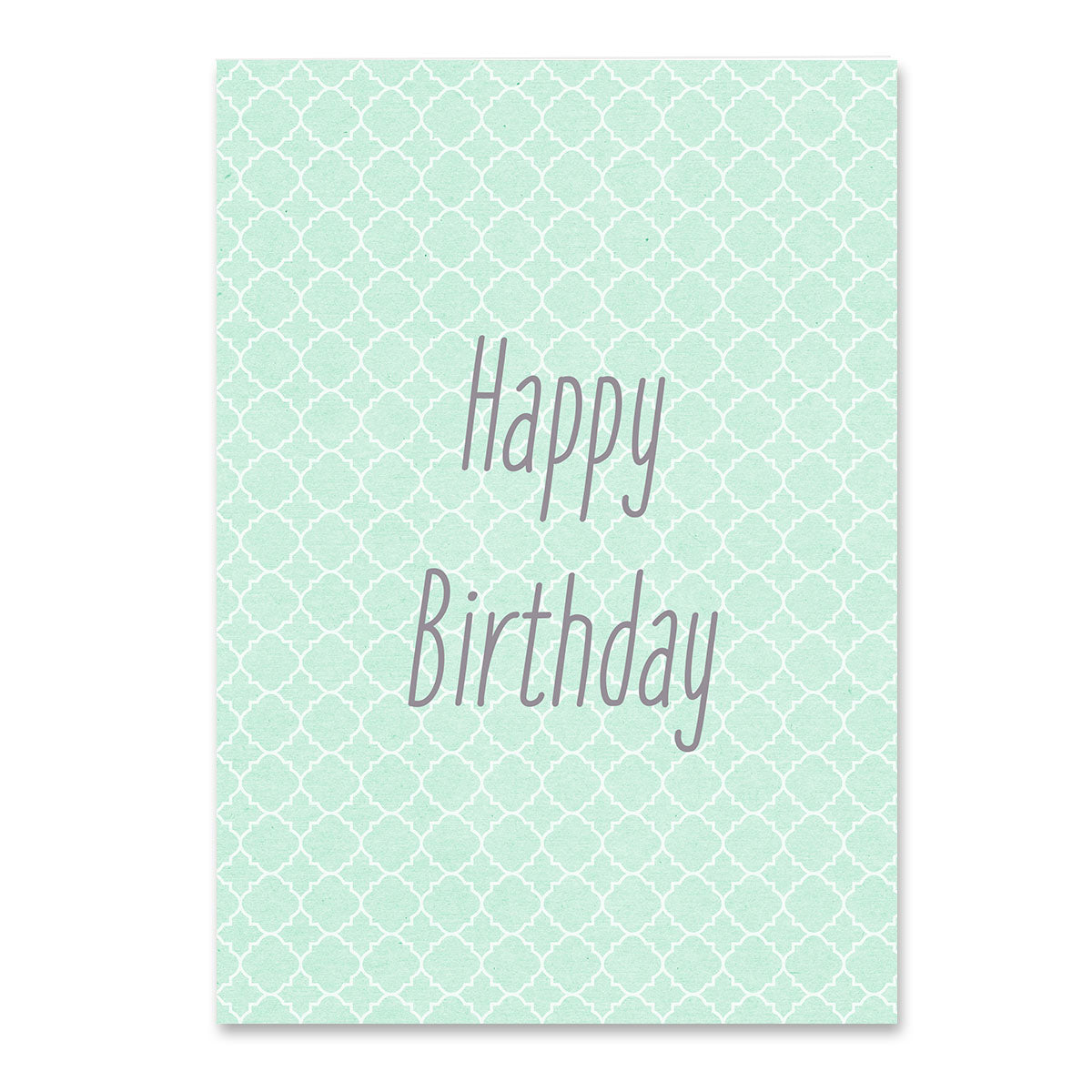 Happy Birthday Green Pattern Card Mode Prints