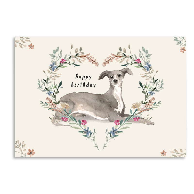 Happy Birthday Greyhound Card - Mode Prints