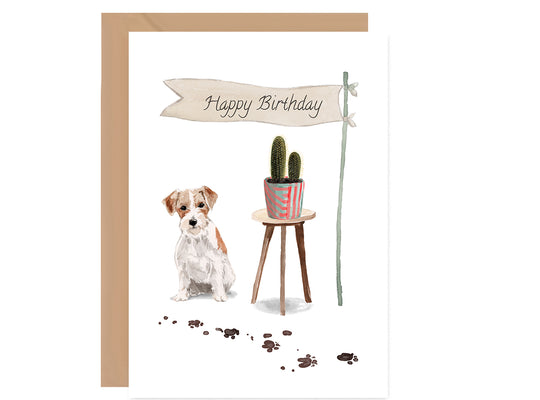 Jack Russell Dog Birthday Card-Greeting Cards-Mode Prints
