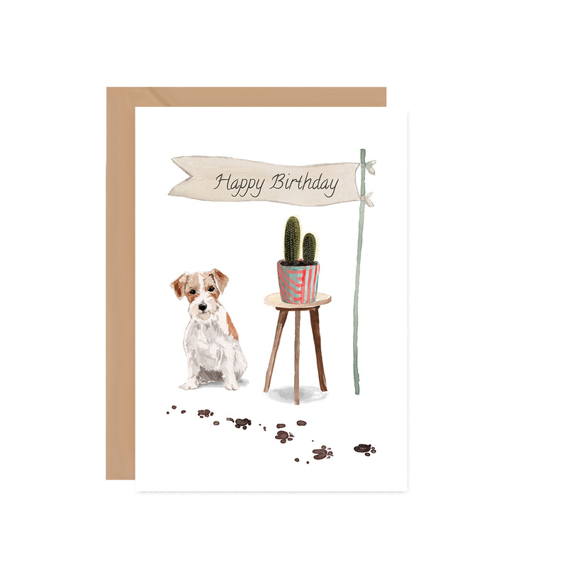 Jack Russell Dog Birthday Card - Mode Prints