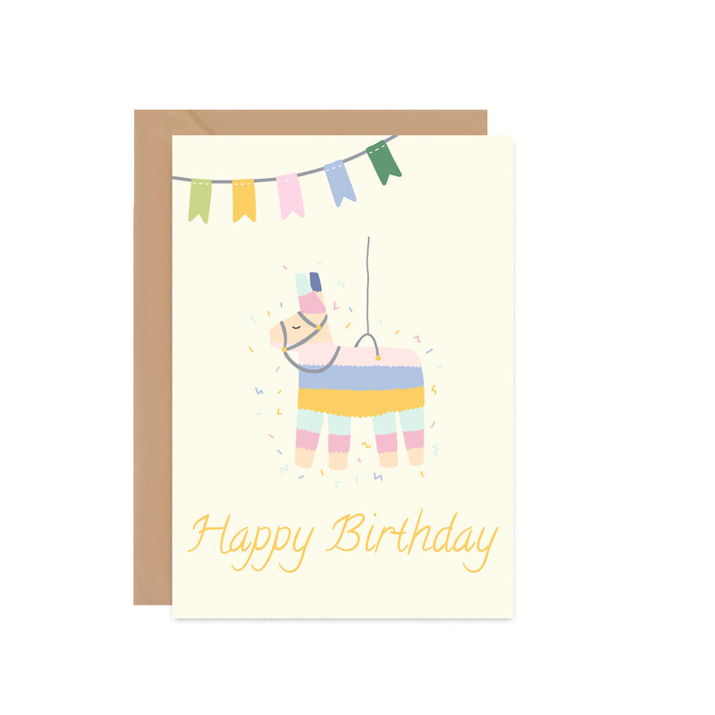 Happy Birthday Llama Piñata Card - Mode Prints