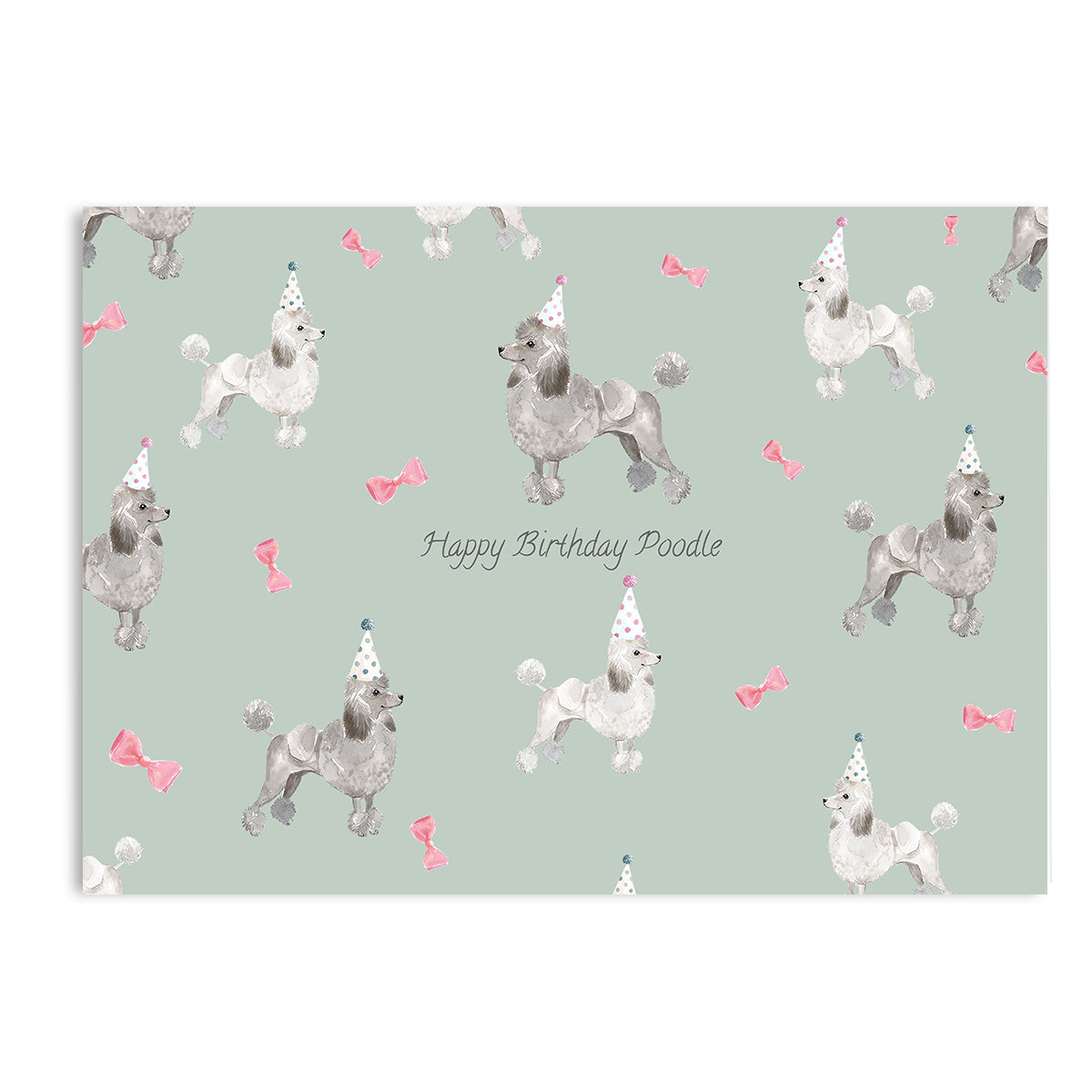 Happy Birthday Poodle Card-Greeting Cards-Mode Prints