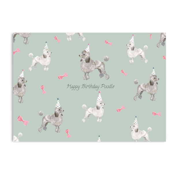 Happy Birthday Poodle Card - Mode Prints