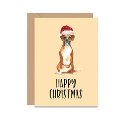Boxer Dog Christmas Greeting Card