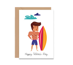 Surfer Dad Father's Day Card
