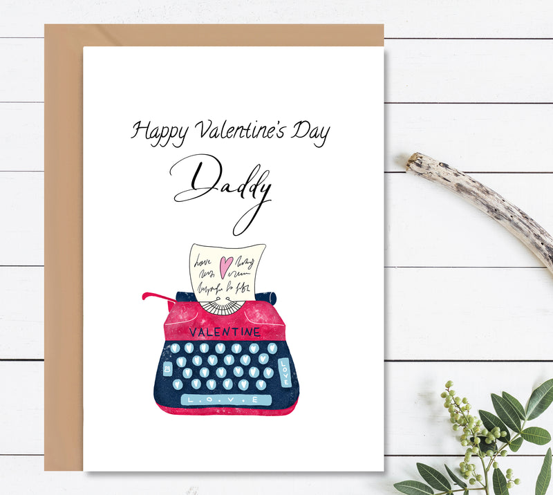 Personalised Valentine's Day Greeting Card - Mode Prints