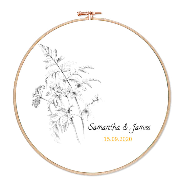 Personalised Floral Hoop
