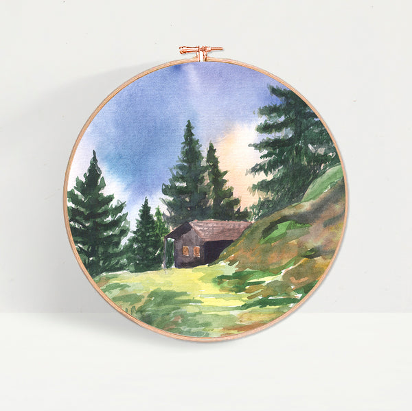 Forest Log Cabin Hoop