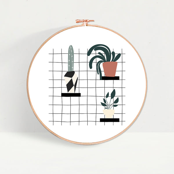 House Plants On Shelf Hoop
