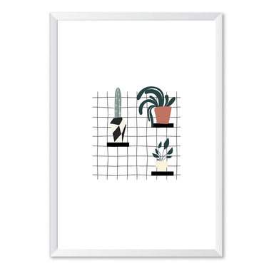 House Plant Wall Display Poster Print-Print-Mode Prints