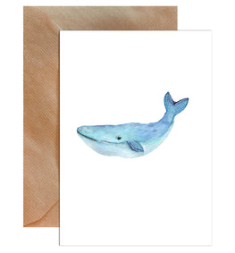 Humpback Whale Greeting Card-Greeting Cards-Mode Prints