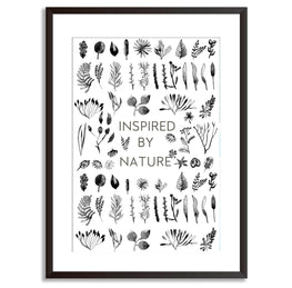 Inspired By Nature Watercolour Poster Print