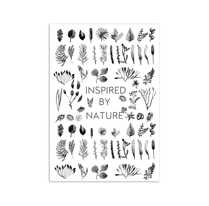 Inspired By Nature Watercolour Wall Art Print - Mode Prints
