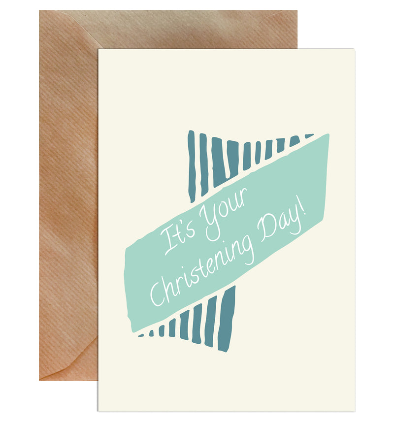 It's Your Christening Day! Greeting Card - Mode Prints