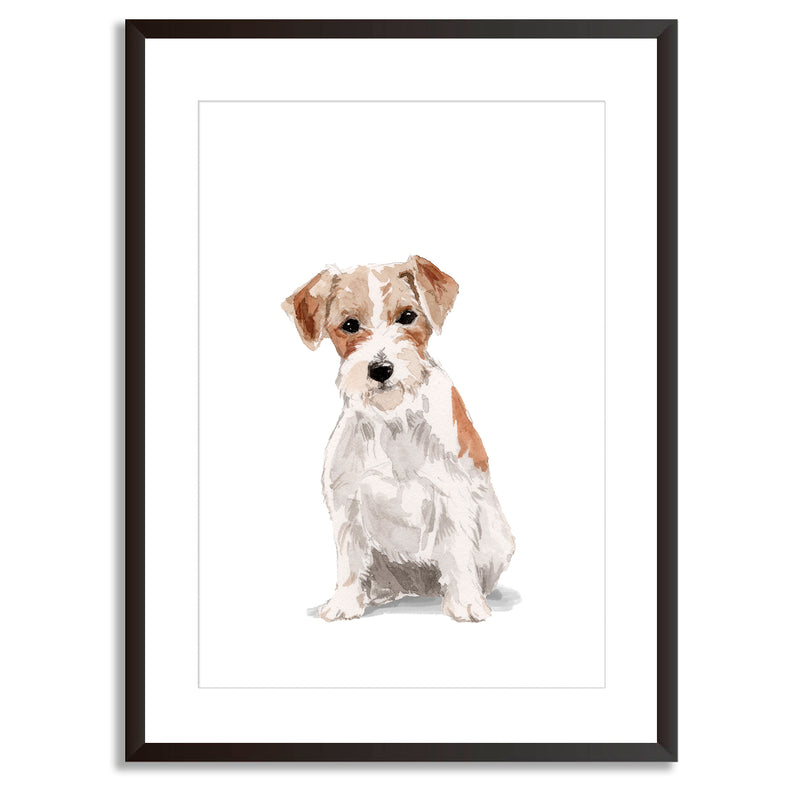 Jack Russell Watercolour Dog Portrait Print - Mode Prints