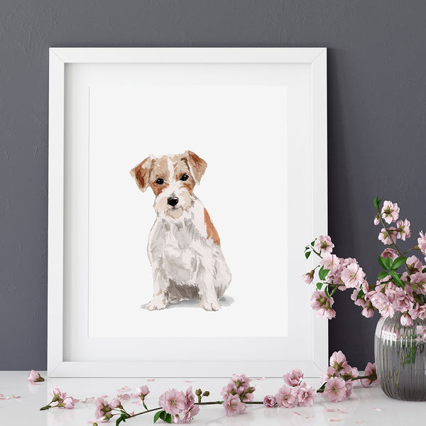Personalised Watercolour Dog Portrait Art Print
