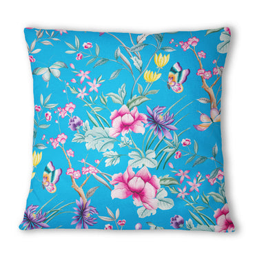 Japanese Leaf Blue Cushion