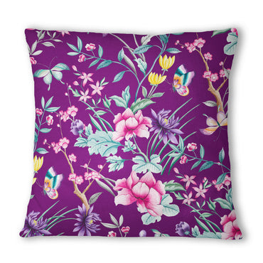 Japanese Leaf Eggplant Cushion